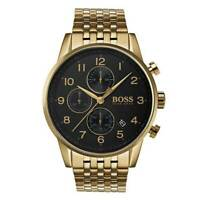 Mens Hugo Boss Gold Navigator Chronograph Watch HB1513531