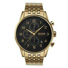 Mens Hugo Boss Gold Navigator Stainless Steel Chronograph Watch HB1513531