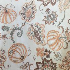 Envogue Thanksgiving Tablecloth Fall Pumpkin Paisley Orange Brown Teal 60x102