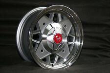 4 Fiat 500/126 Felgen poliert 5x12 TÜV ruote wheels jantes neu mit TÜV