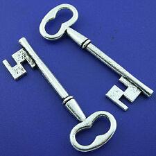 5pcs Tibetan silver key charm finding h1666