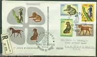 LUXEMBOURG   1961 ANIMALS  REGISTERED FIRST DAY COVER AS SHOWN