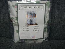"pfaltzgraff Grapevine Ruffled 45"" Swag,Cotton Blend,Floral, Multi-color, kitchen"
