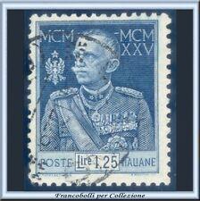 1926 Italia Regno Giubileo L. 1,25 azzurro Dentellato 11 n. 191 Usato