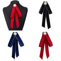 Womens Satin Pearl Uniform Necktie Bowtie Neck Tie Professional Staff Colleague