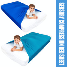 Sensory Bed Sheet Compression Alternative to Weighted Blankets Relieve Stress
