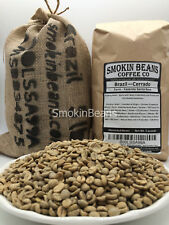 2lb Brazil FINECUP-NUTTY-SWEET Unroasted Green Coffee Beans WITH FREE BURLAP BAG