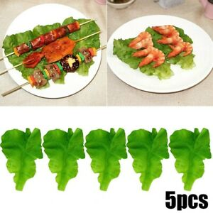 5pc Artificial Lettuce Leaves Simulation Fake Vegetable Kitchen Party Decoration
