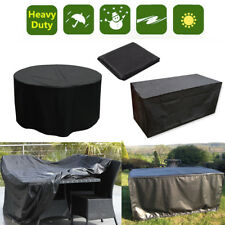 S/M/L/XL Table Waterproof Outdoor Garden Furniture Cover Round Rectangle Covers