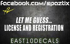 (2) Let me guess license and registration jdm diesel truck sticker powerstroke