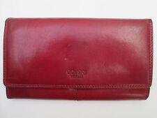 -AUTHENTIQUE portefeuille/porte-monnaie COVERI World cuir  (T)BEG vintage