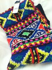 Polo Ralph Lauren Women's Knit Rolled Wool Scarf Retail $ 750.00