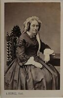 A.Monvel Fotografia A Orleans Francia Foto CDV L1n18 Vintage Albumina c1860