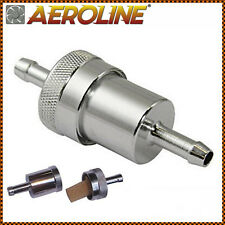 "UNIVERSAL Alloy Fuel Petrol Diesel Inline Filter 1/4"" 6mm For Car / Motorcycle"