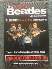 The Bootleg Beatles Concert Tour 2015-16 A5 U.K. tour Flyer Double Sided
