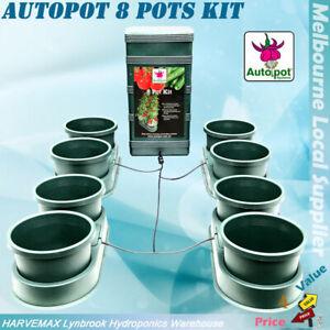 AutoPot 8 Pots Kit Hydroponics AUTO Feed 35L Gravity Tank Grow System