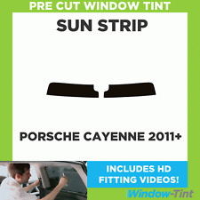 Pre Cut Window Tint - Porsche Cayenne 2011 Sunstrip