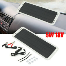 18V 5W Portable Power Solar Panel Battery Charger USB Camping//Van/Boat/Caravan