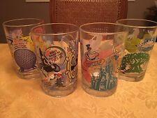"Disney World & McDonald"" 100th Anniversary Drinking Glasses  Set of 4"