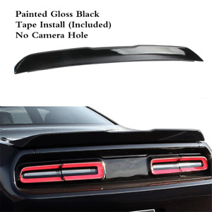Rear Tail Lip Wing Spoiler Black ABS SRT Style Fit For DODGE Challenger 08-19