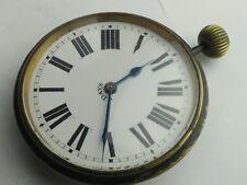 Antique 8 Jour Bureau Voyage Horloge Mouvement de montre cadran et travail