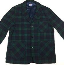 Pendleton Genuine Womens Virgin Wool Jacket, Green/ Black, Sz Large, Small Holes