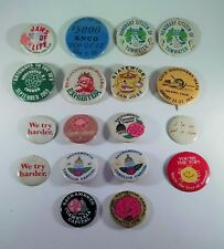Lot Of 18 California Related Pins Pinbacks Buttons Sacramento Camellia 1970s Pin
