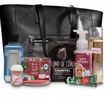 Bath and Body Works 2018 Limited Edition Black Tote Bag, Includes All Items
