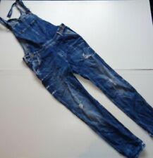 "Lee blue dungarees mens / womens 29"" waist, 31"" leg distressed  overalls"