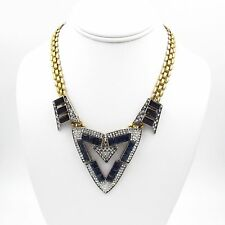 SO CHIC! Lulu Frost Triangle Emergence Crystal Necklace  SUMMER SALE
