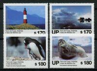 Argentina 2019 MNH Tierra del Fuego 4v Set Lighthouses Penguins Birds Stamps