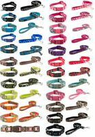 Ancol Puppy / Dog Adjustable Collar And/Or Lead Various Designs Skull, Paw, Bone