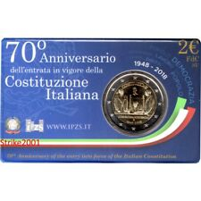 NEW !!! 2 EURO COMMEMORATIVO ITALIA 2018 70° Costituzione in Folder NEW !!!