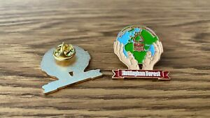 """Nottingham Forest Pin Badge - """"We've got the whole world in our hands"""""""