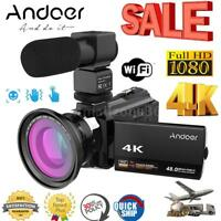 4K WiFi 1080P HD 48MP 16X ZOOM Digital Video Camera Camcorder DV Night Vision