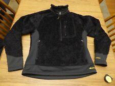 Ems Women's Medium 100% Polyester Poodle Fleece 1/2 Zip Black Very Good