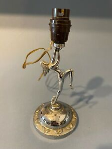Art Deco Chrome Nude Lady Lamp Old Bakelite Fitting