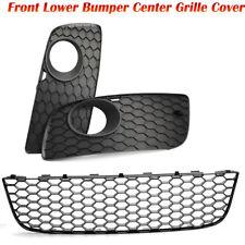 Mesh Front Lower Bumper Center Grille Cover for VW Fog Light Jetta MK5 2005-2010
