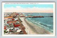 Atlantic City NJ, Aerial View, Beach, Boardwalk, Vintage New Jersey Postcard