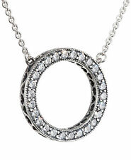 New Genuine Silver Hearts of Pandora Necklace with Pandora gift Pouch