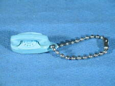 Vintage Turquoise Princess Rotary Phone Key Chain