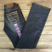 Rock and Roll Cowgirl Women Boot Cut Mid Rise Medium Wash Jeans 26 x 34