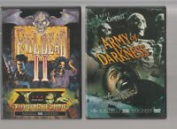 EVIL DEAD II 2 + ARMY OF DARKNESS ANCHOR BAY DVD Horror Movie LIKE NEW + INSERTS