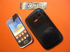 CUSTODIA COVER IN SILICONE TPU PER SAMSUNG GALAXY YOUNG Y S6102 NERO BLACK CASE