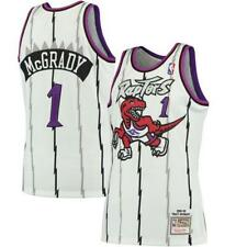 Toronto Raptors Tracy McGrady Mitchell Ness White Hardwood Classic Jersey Small