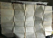 """1949 Vintage MAP of OKLAHOMA Jackson County Heydrick Mapping Company 61"""" X 40"""""""