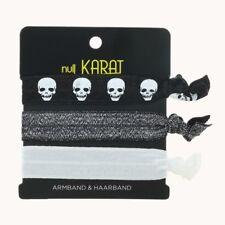 Null Karat elastisches Armband und Haarband Skull Schädel Gothic schmuckrausch
