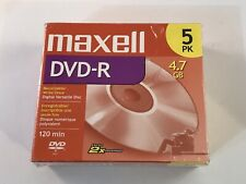 MAXELL DVD-R RECORDABLE DISC  4.7 GB 120 MIN 5 PACK