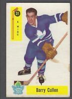 1958-59 Parkhurst Toronto Maple Leafs Hockey Card #31 Barry Cullen
