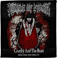 Official Merch Woven Sew-on PATCH Metal Rock CRADLE OF FILTH Cruelty & The Beast